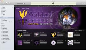 Waldorf College iTunes U Page